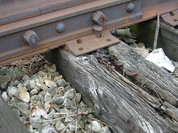 corrosive wood rail sleepers