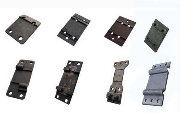 types of rail tie plates