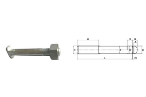 rail bolt NFF50-008