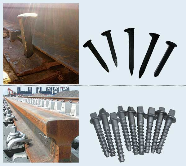 railroad dog spikes and screw spikes