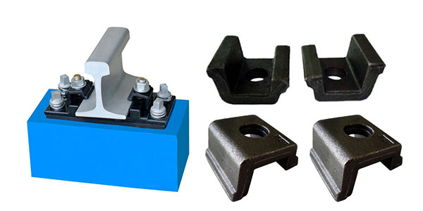 KPO fastening system and railway clamps