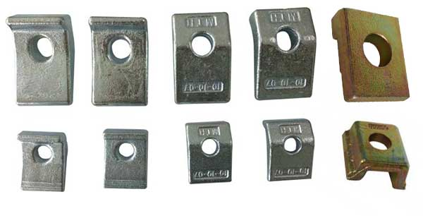 samples of rail clamps from AGICO