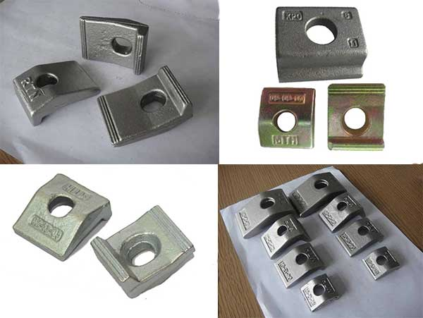 types of railway clamps