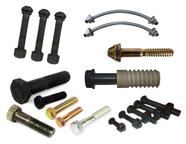 various types of track bolts